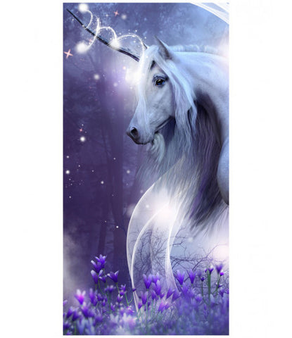 Mystical Unicorn Beach Towel