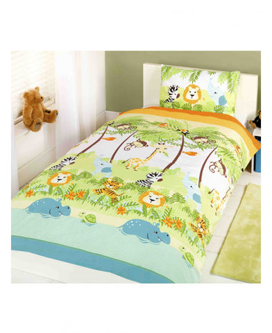 Jungle Boogie Junior Toddler Duvet Cover & Pillowcase Set