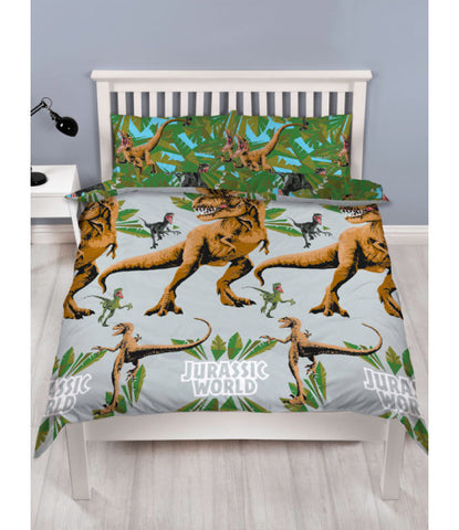 Jurassic World Jungle Double/Queen Duvet Cover and Pillowcase Set