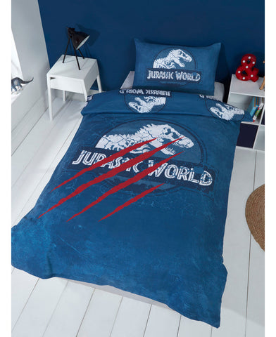 Jurassic World Claws Single Duvet Cover and Pillowcase Set