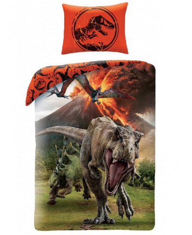 Jurassic World Volcano Single Duvet Cover Set