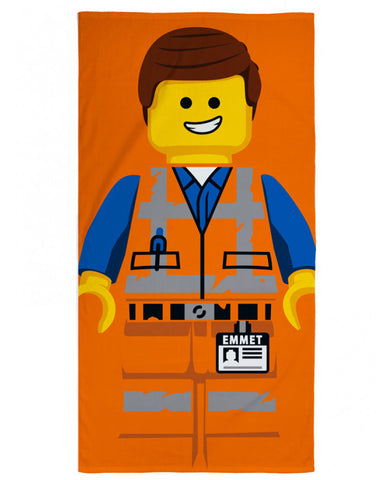 Lego Movie 2 Emmet Beach Towel