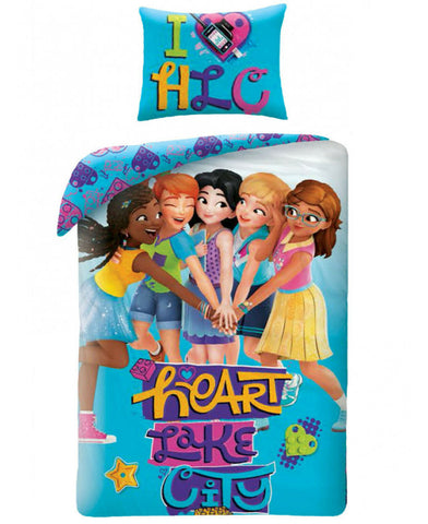 Lego Friends Heart Single Cotton Duvet Cover Set