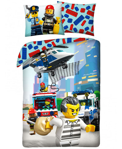 Lego City Rescue Crew Single Duvet Cover Set
