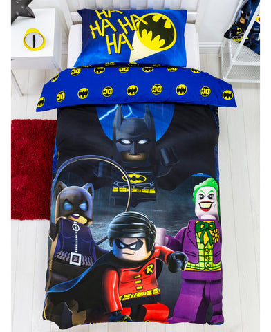 Lego DC Superheroes Challenge Single Duvet Cover Set