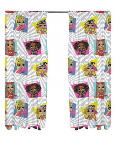 LOL Surprise Buzz Curtains 66in wide (168cm) x 54in drop (137cm)