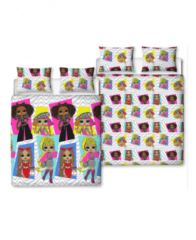 LOL Surprise Buzz Double Duvet Cover and Pillowcase Set