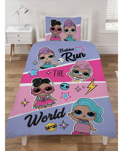 LOL Surprise Babies Run the World Single Duvet Cover Set