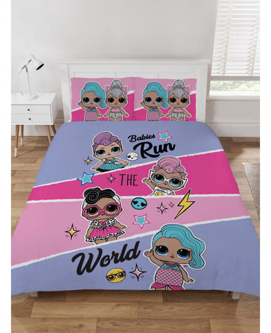 LOL Surprise Babies Run the World Double Duvet Cover Set