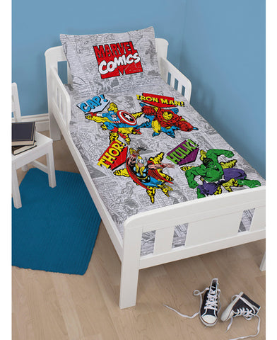 *NEW* Marvel Comics  Junior /Toddler /Cot bed Duvet Cover and Pillowcase Set