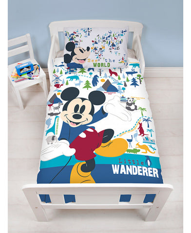 *NEW* Mickey Mouse Cot/ Junior/Toddler Duvet Cover Set