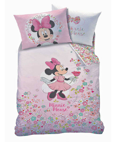 *NEW* Minnie Mouse Bloom Single Duvet Cover and Pillowcase Set