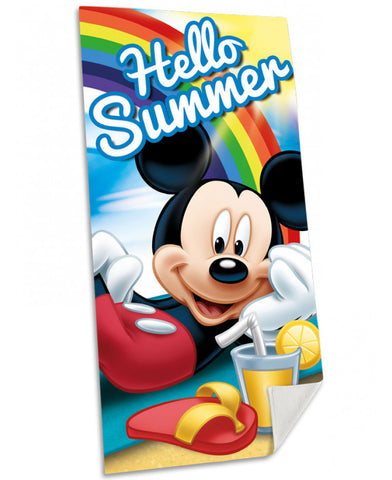 Mickey Mouse Hello Summer Beach Towel