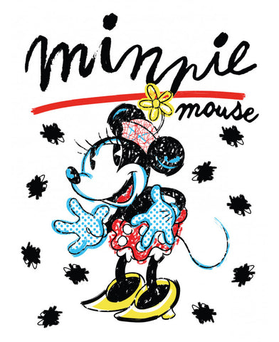 Minnie Mouse Retro Fleece Blanket