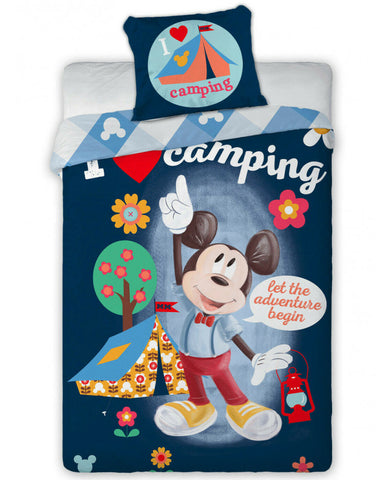Mickey Mouse Camping Single Duvet Cover Set - European pillowcase size: 70cm x 90cm (27.5in x 35.5in)