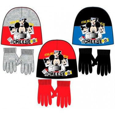 Disney Mickey Mouse Winter Beanie/Hat and Gloves set