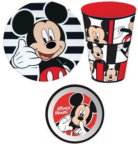 Mickey Mouse Meal time plate Bowl Cup set