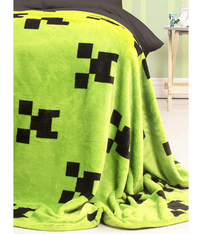 Minecraft Creeper Emerald Fleece Blanket