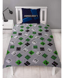 Minecraft Creeps Single Duvet Cover and Pillowcase Set