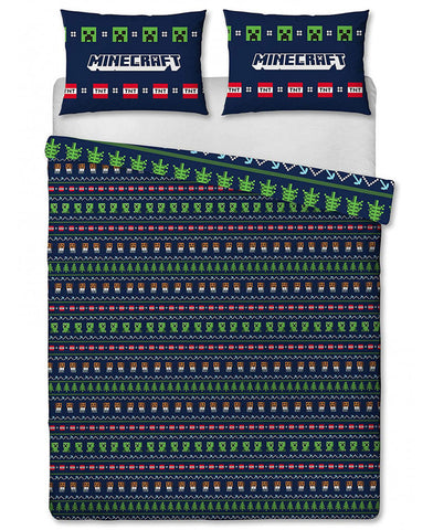 Minecraft Alpine Double/Queen Duvet Cover and Pillowcase Set