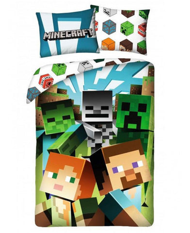 Minecraft Chase Single Cotton Duvet Cover Set - European Size