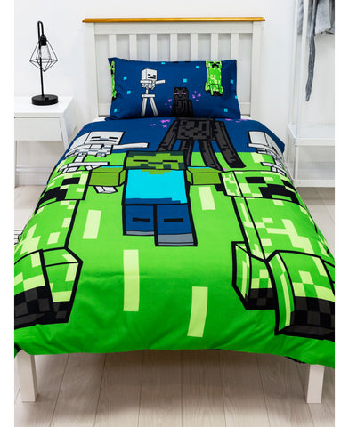 Minecraft Creeps Single Duvet Cover Set