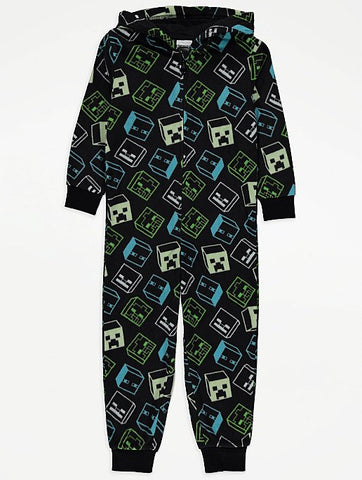 Minecraft Creeper Fleece Onesie