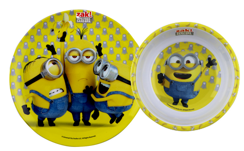 Minions Meal Time Plate and Bowl Set
