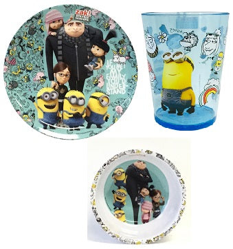 Minions Despicable Me Meal time plate Bowl Cup set