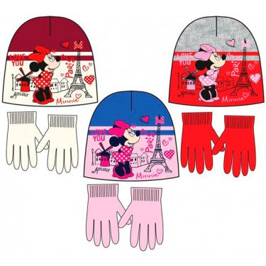 Disney Minnie Mouse Winter Beanie/Hat and Gloves Set