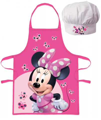 Minnie Mouse Kids Apron and Chef Hat Set
