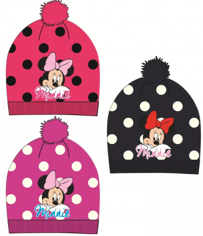 Minnie Mouse Polka Dot Winter Beanie/Bobble Hat
