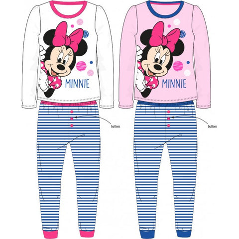 Minnie Mouse Striped Long Pyjama Set