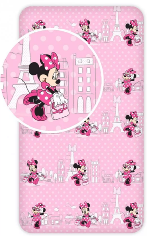 Minnie Mouse Paris Single Fitted Sheet
