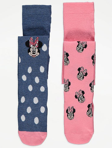 Minnie Knitted Tights 2 Pack