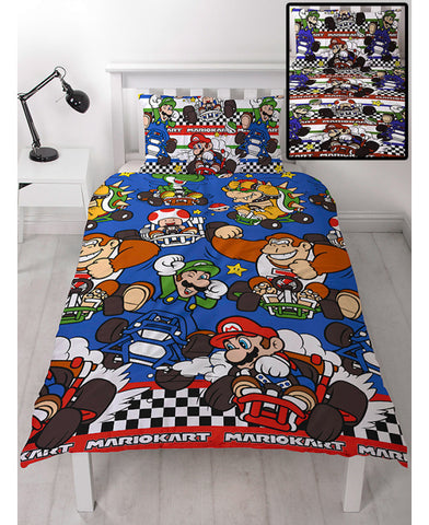 Nintendo Mario Racer Single Duvet Cover Set