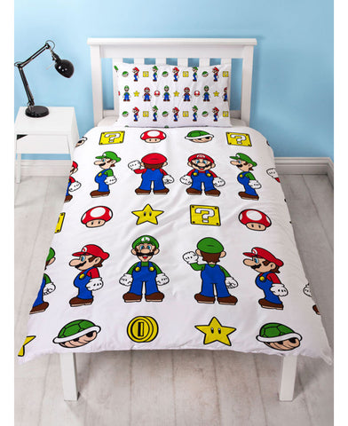 Nintendo Super Mario Stack Single Duvet Cover Set
