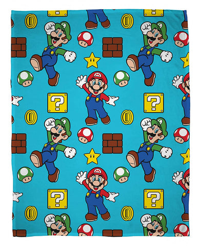 Nintendo Super Mario Fleece Blanket