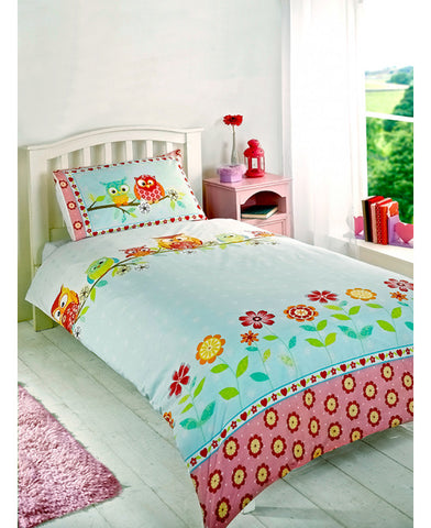 Owls Double/Queen Duvet Cover and Pillowcase Set