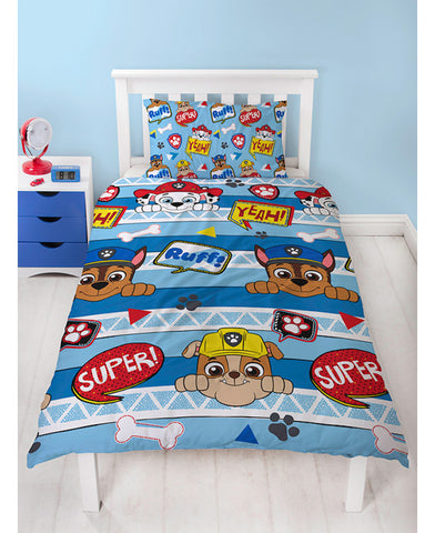 Paw Patrol Peek Single Duvet Cover Set - Rotary Design