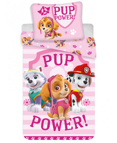 Paw Patrol Skye Single Cotton Duvet Cover Set