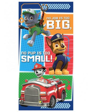 Paw Patrol No Pup Too Small Towel