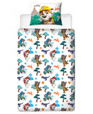 Paw Patrol Dino Single Duvet Cover and Pillowcase Set