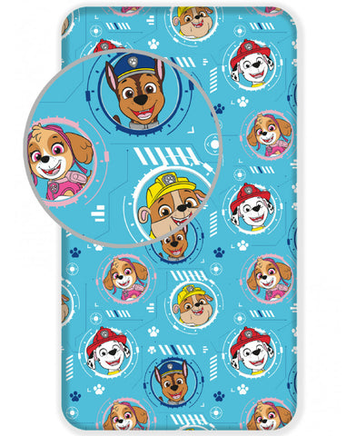 Paw Patrol Single Fitted Bed Sheet