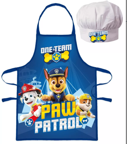 Paw Patrol Kids Apron and Chef Hat Set