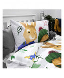 Peter Rabbit Forest Single Duvet Cover and Pillowcase Set