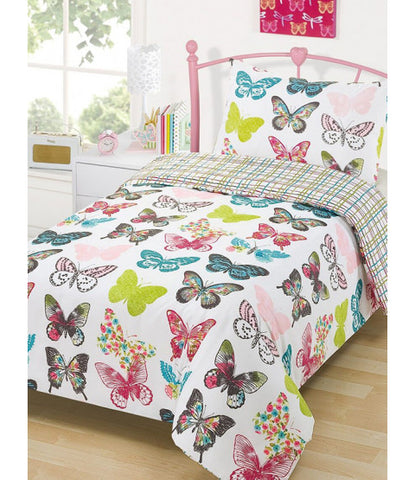 Layla Butterfly Double/Queen Duvet Cover and Pillowcase Set