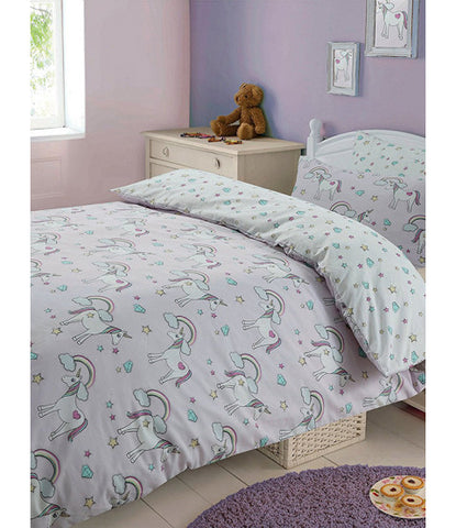 Magic Unicorns Double/Queen Duvet Cover and Pillowcase Set