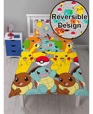 Pokémon Catch Single Rotary Duvet Cover and Pillowcase Set