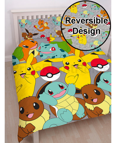 Pokémon Catch Double/Queen Duvet Cover and Pillowcase Set